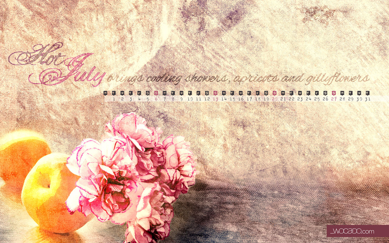 July 2014 - Wallpaper Calendar FREE by WOCADO