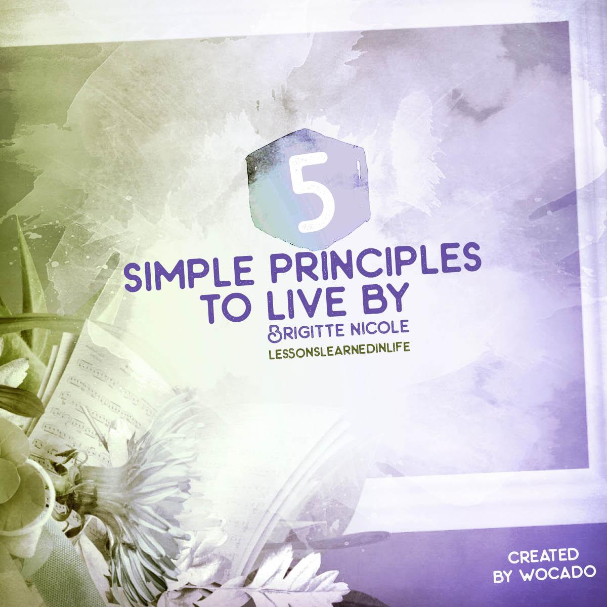 5 Simple Principles to Live By - Brigitte Nicole Video Quote by wocado