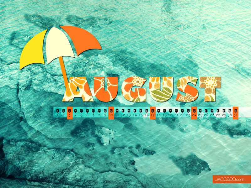 August 2014 Wallpaper Calendar by WOCADO - Free Download