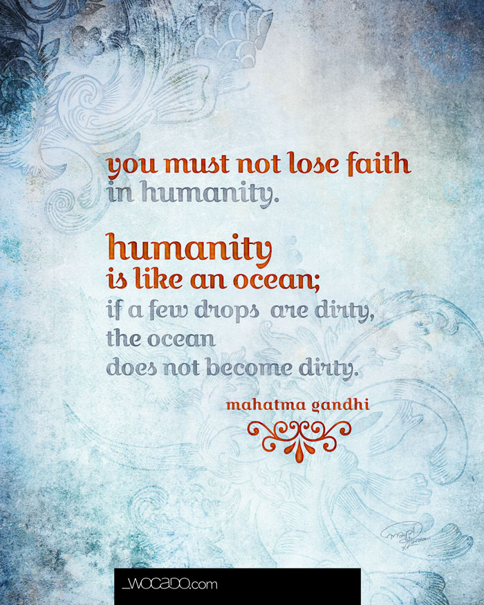 Faith in Humanity - Mahatma Gandhi Quote - 8x10 Printable by WOCADO