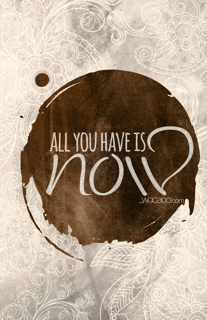 All you have is NOW! - Printable Poster by WOCADO
