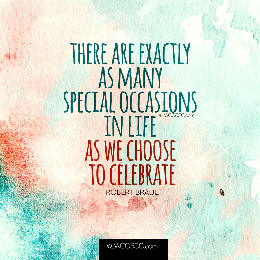 Special Occasions in Life - Wocado