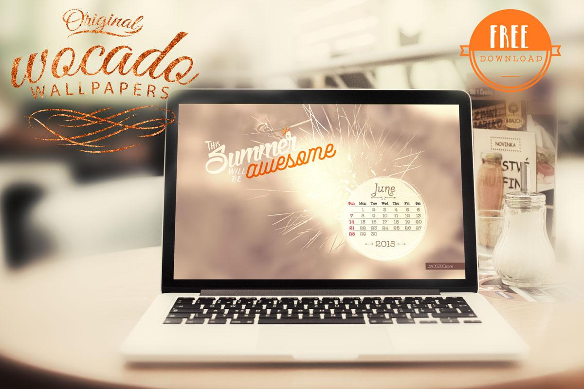 June 2015 Wallpaper Calendar by WOCADO - FREE Download