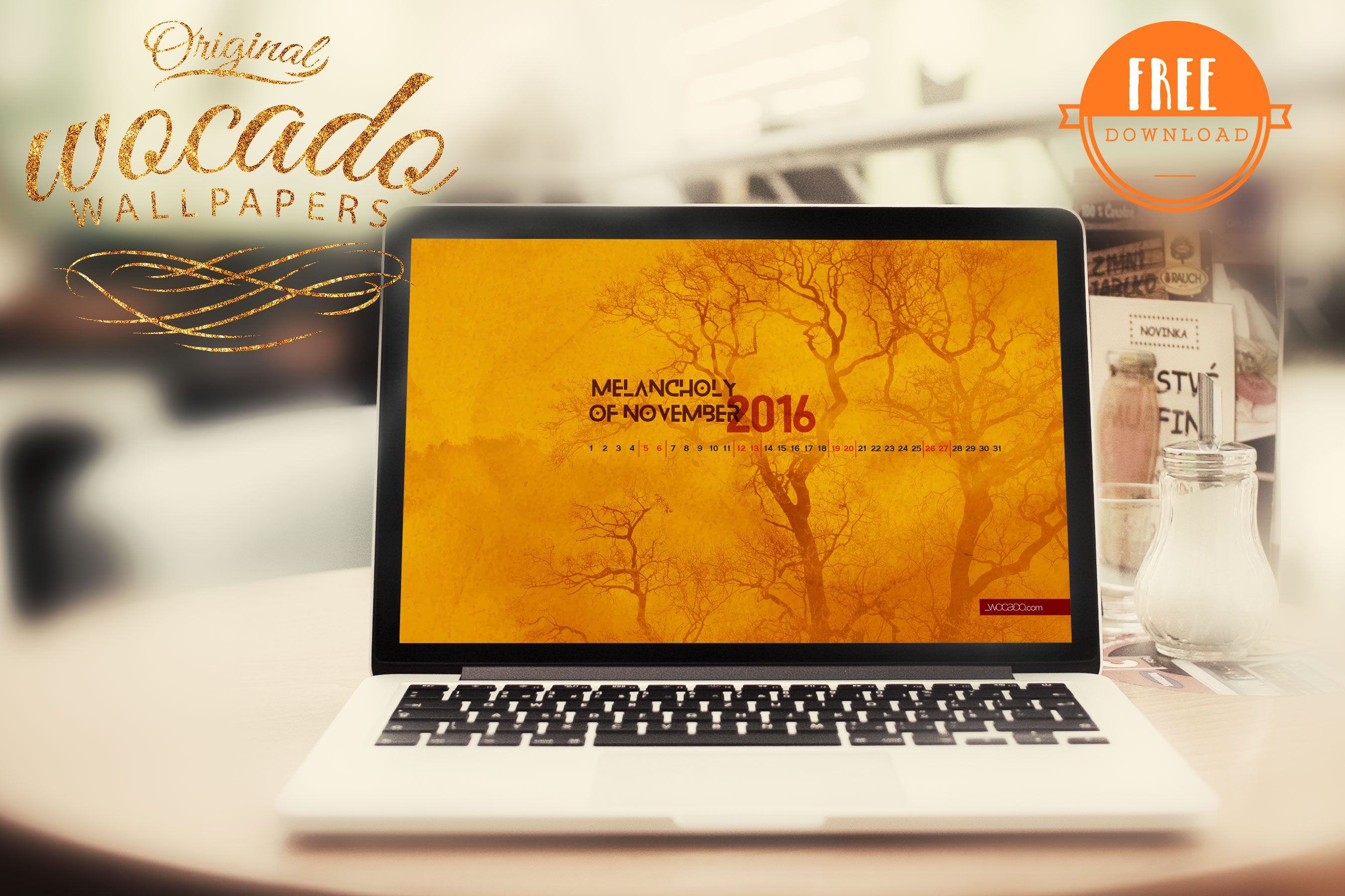 Melancholy of November 2016 Calendar Wallpaper by WOCADO - FREE Download