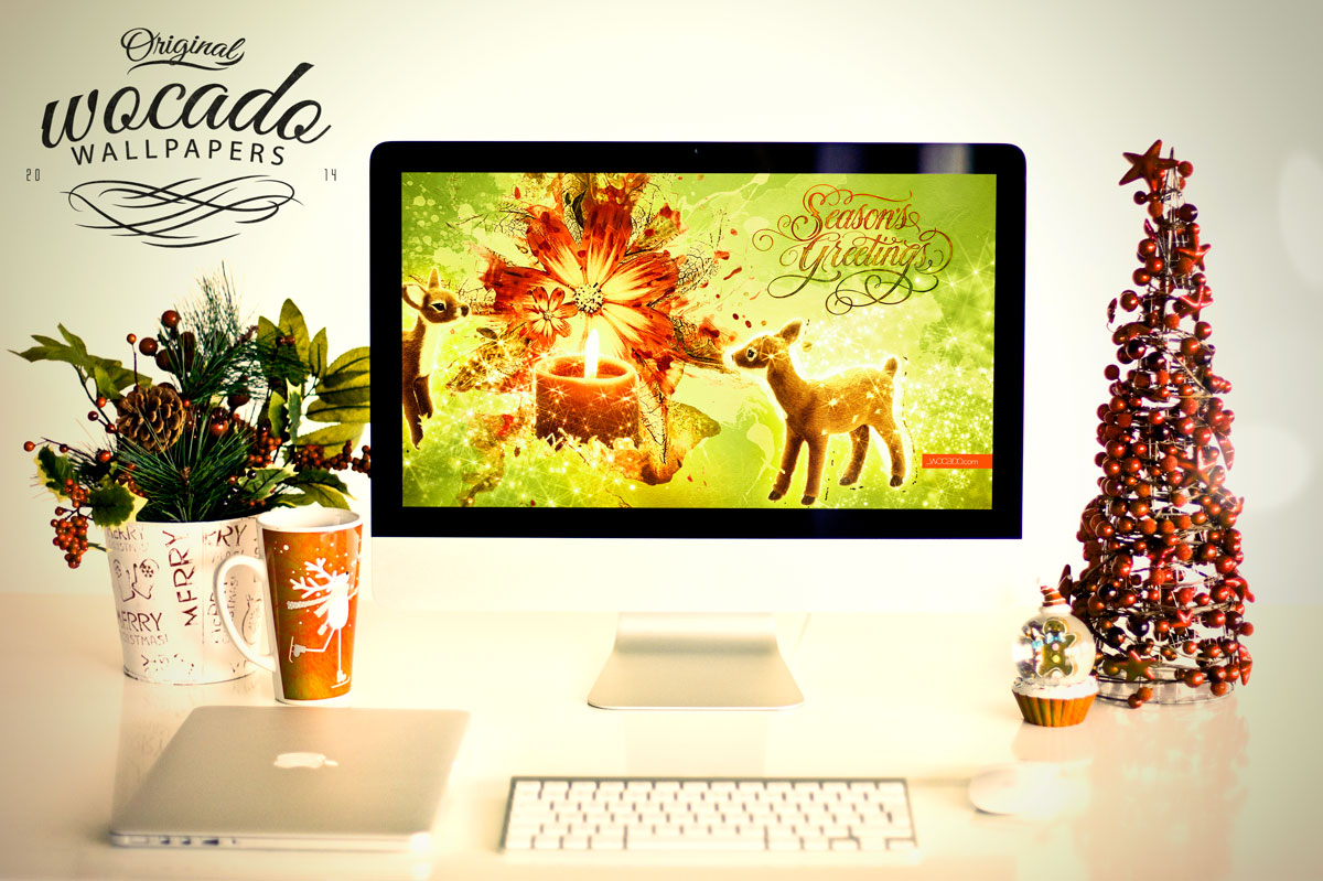 Season's Greetings Wallpaper by WOCADO - Free Download